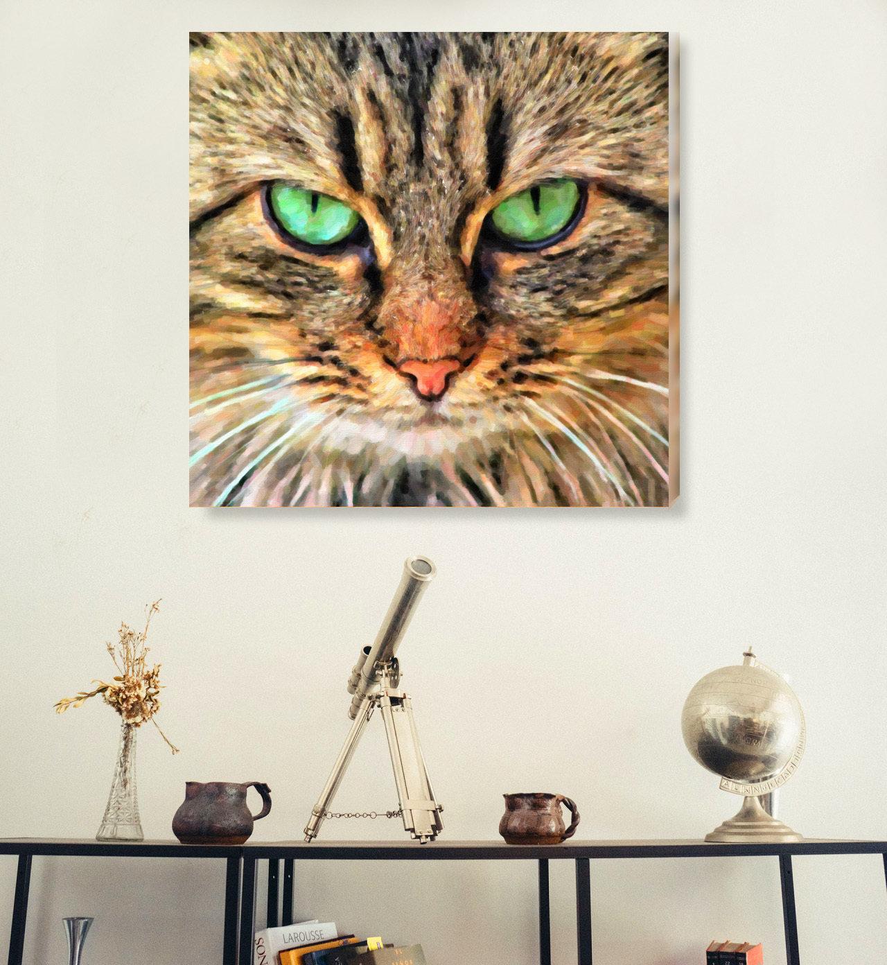 Custom Cat Portrait Oil Painting Style