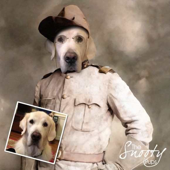 Theodore Roosevelt Custom dog Portrait 00129