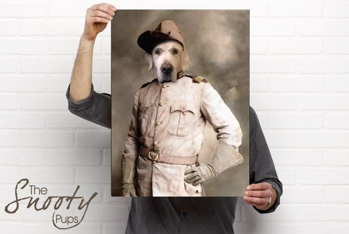 Theodore Roosevelt Custom dog Portrait
