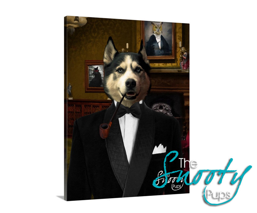 Smoking Jacket Custom Dog Portrait