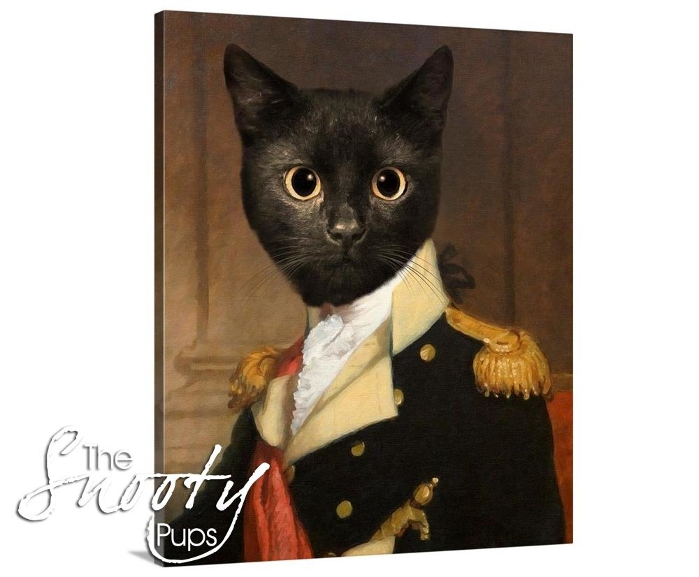 General Cat Portrait Canvas