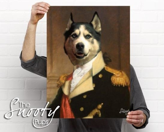 General Dog Portrait Poster
