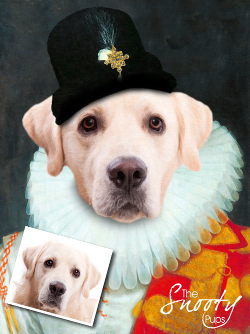 Renaissance Custom Dog Portrait 00137