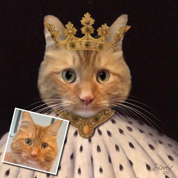 King Custom Cat Portrait 00138