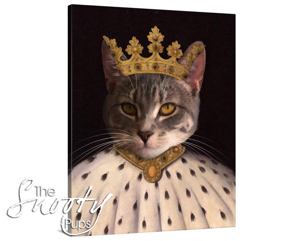 King Custom Cat Portrait