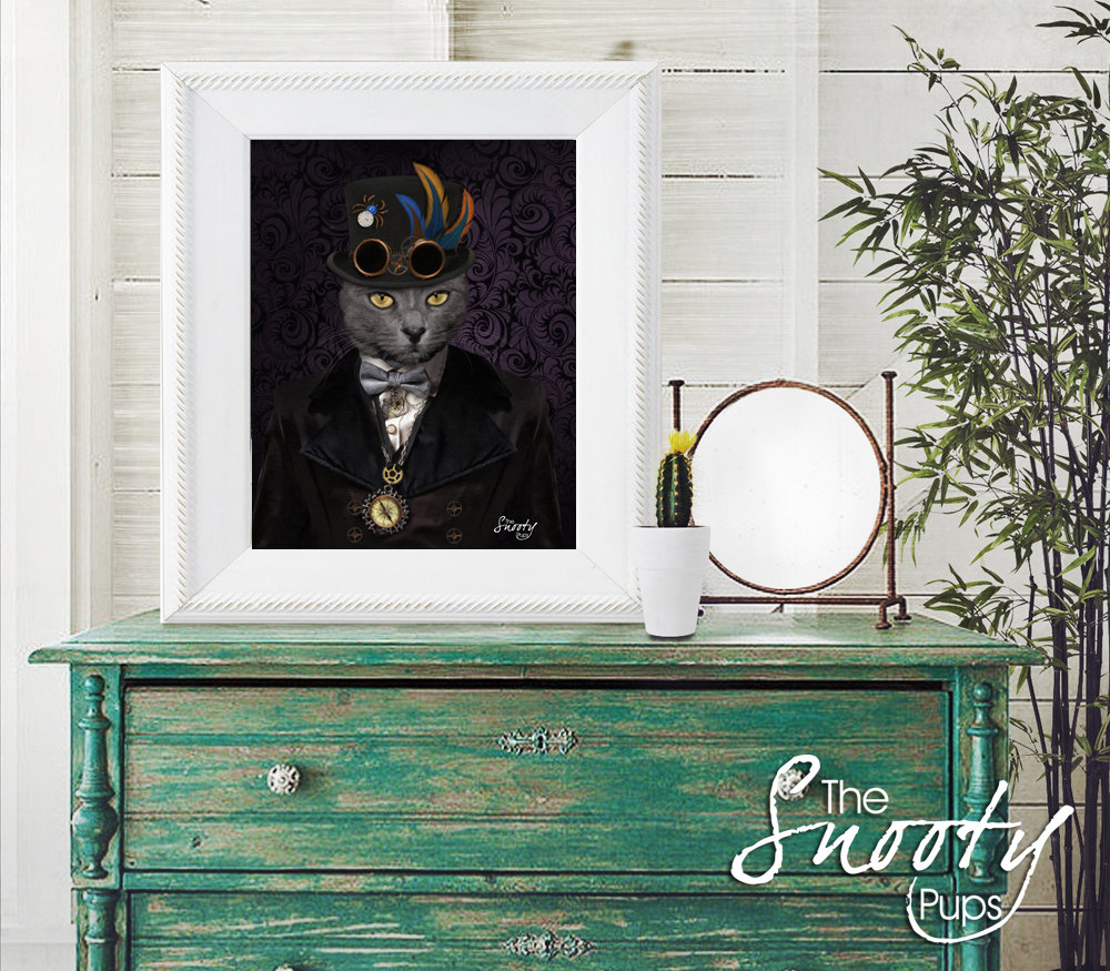 Steampunk Cat portrait
