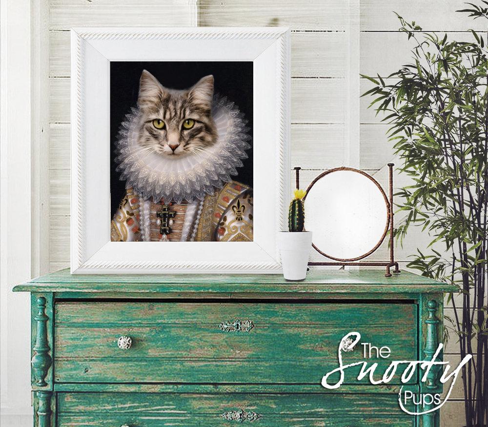 Queen Cat Portrait