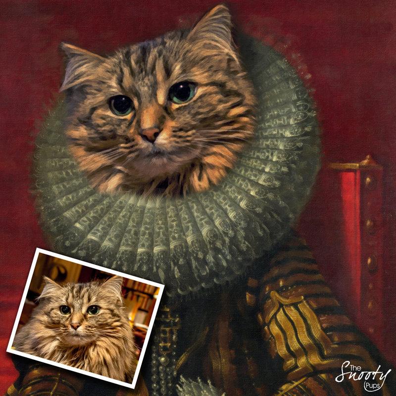 Victorian Custom Cat Portrait 00143