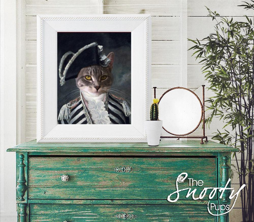 Vintage Custom Cat Portrait