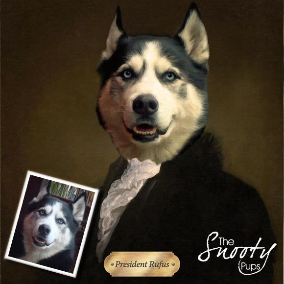 George Washington Custom Dog Portrait 00146