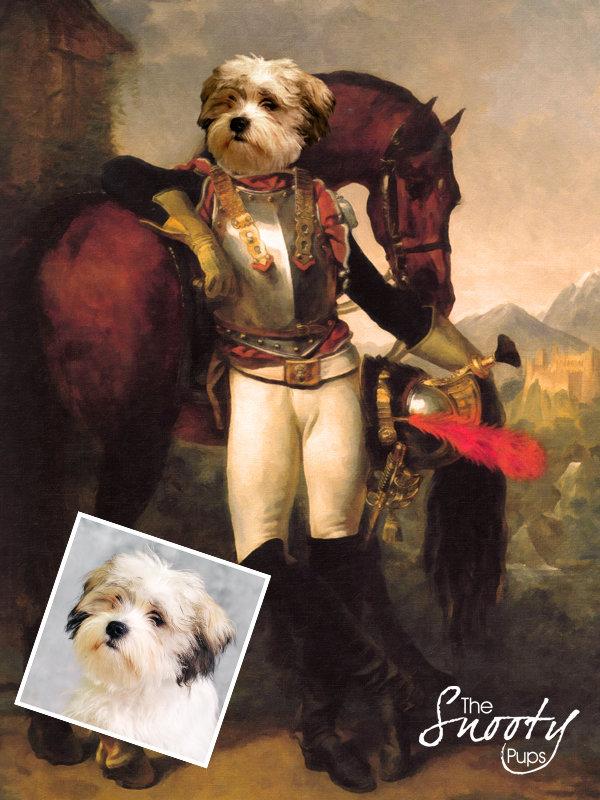 Equestrian Custom Dog Portrait