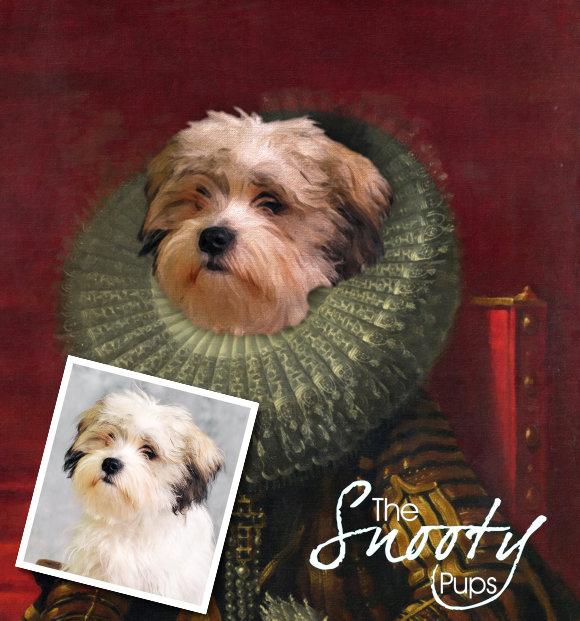 Victorian Custom Dog Portrait 00149