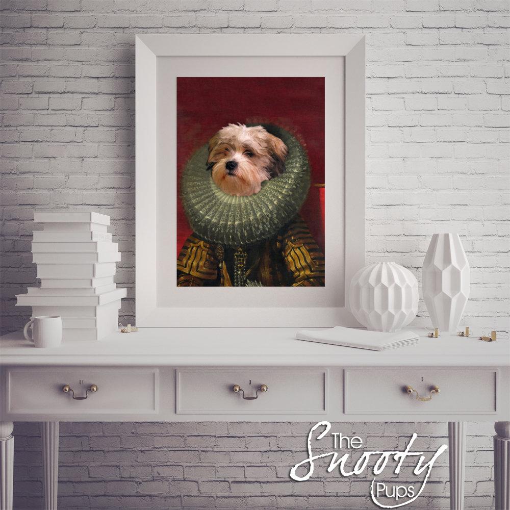 Victorian Custom Dog Portrait
