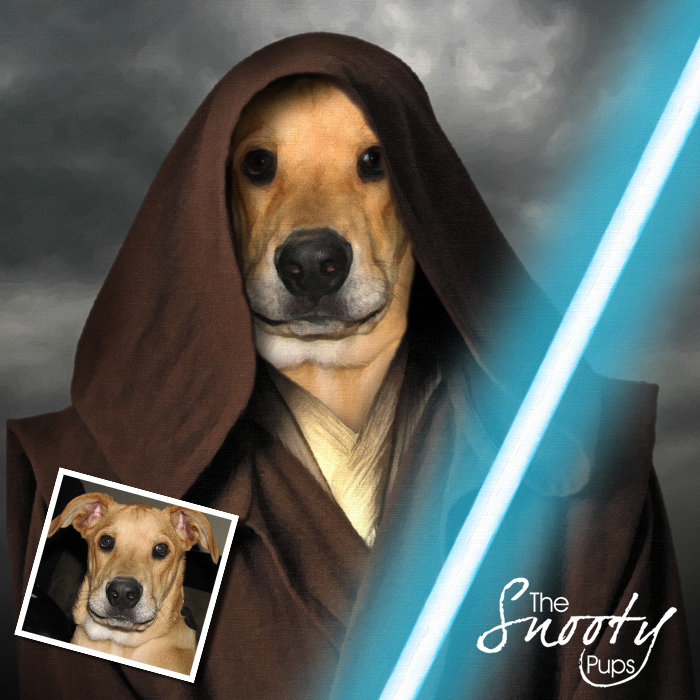 Custom Dog Portrait - Obi Wan Start Wars