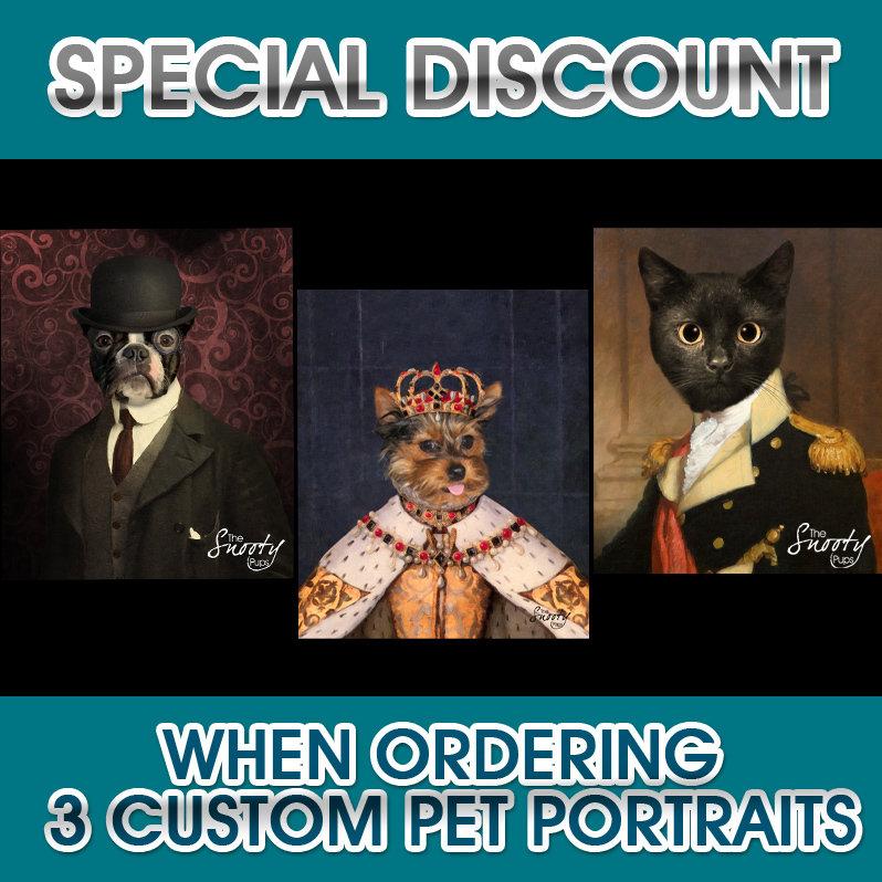 3 Custom Dog or Cat  Portraits 00054