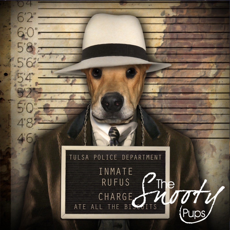 Mobster Custom Dog Portrait 00155
