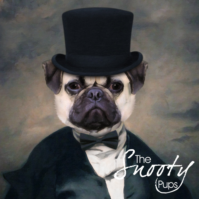 Premade Pug Print, Dog Portrait 00156