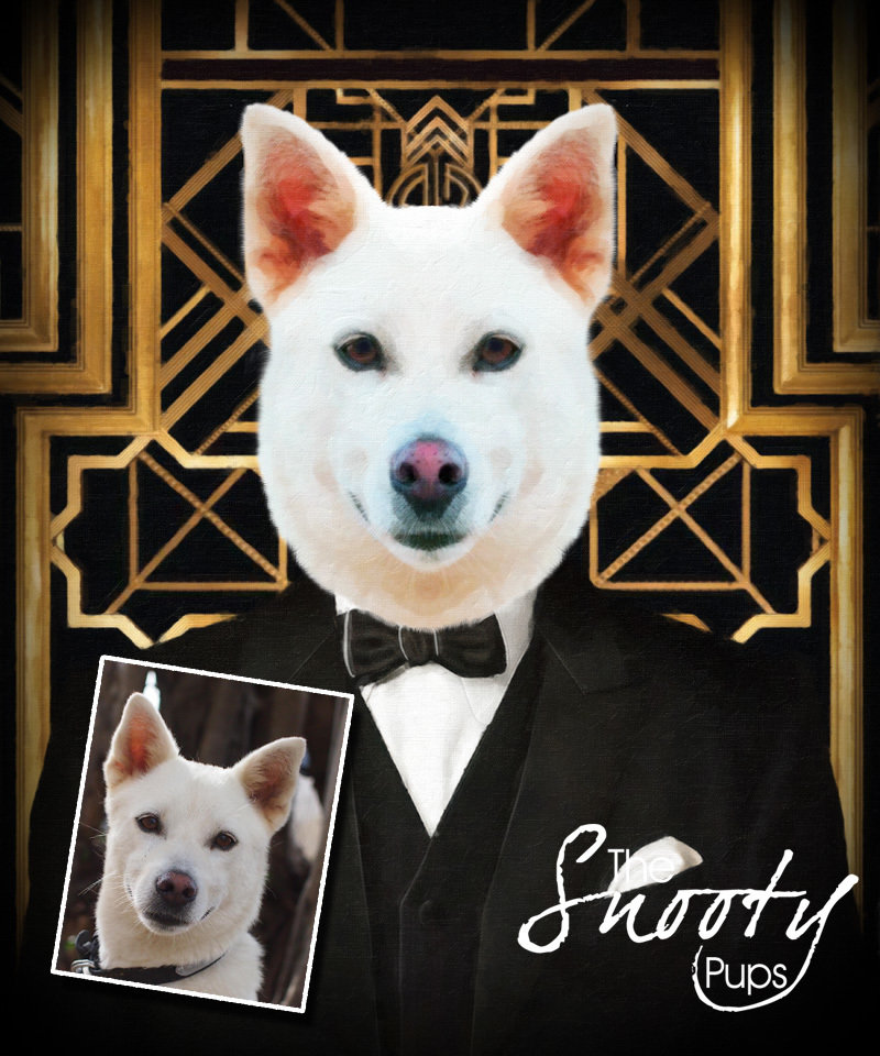 The Great Gatsby Custom DOG Portrait 00074