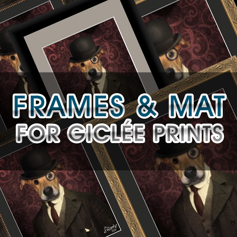 Frame & Mat Add-On For Giclée Print 00160