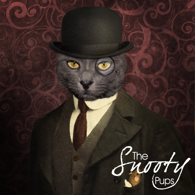 Custom Cat Portrait From Photo - Bowler Hat
