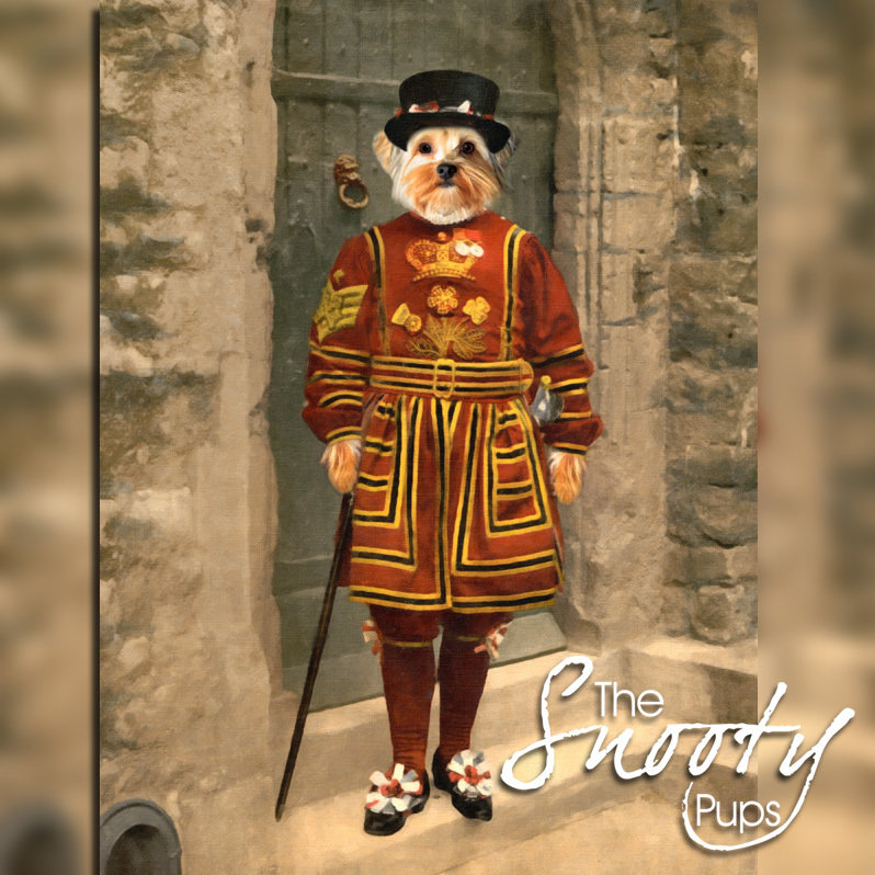 Beefeater Custom Dog Portrait 00159