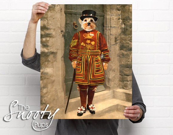 Beefeater Custom Dog Portrait