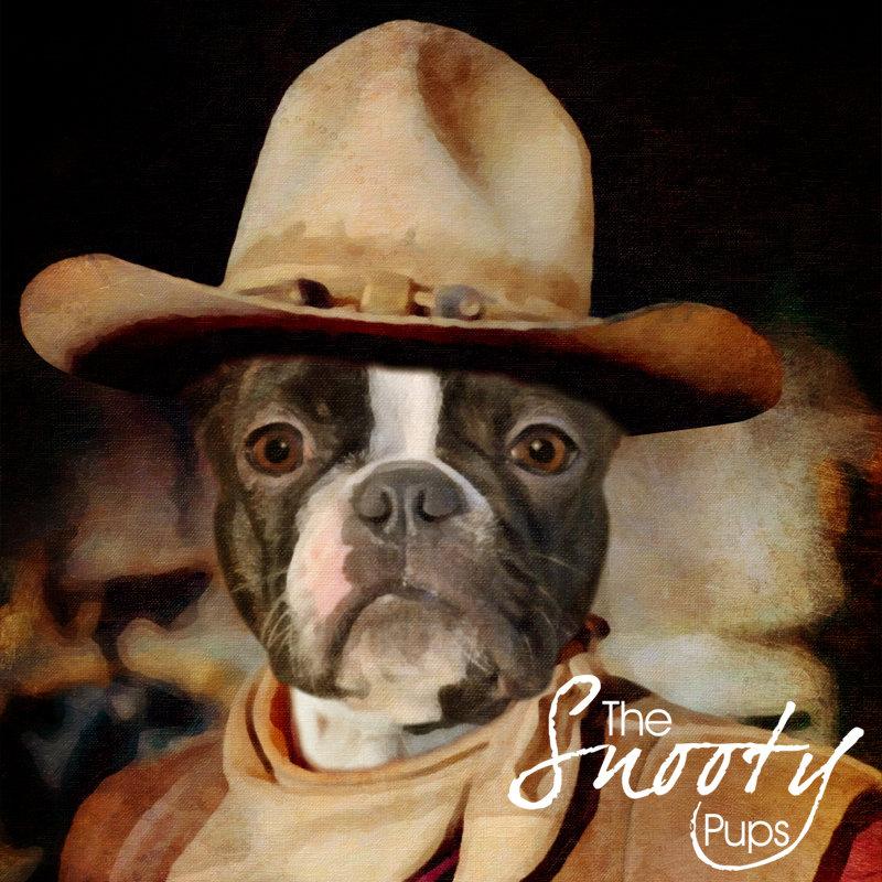 Dog Wayne Cowboy Custom Dog Portrait 00077