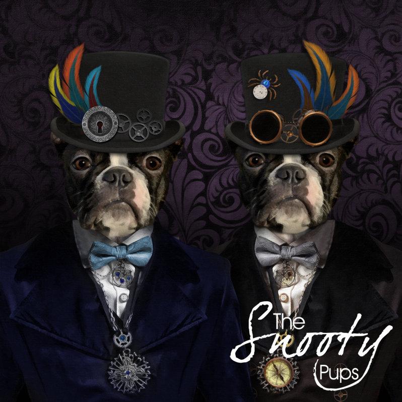 STEAMPUNK Custom Couple Pet Portrait 00166