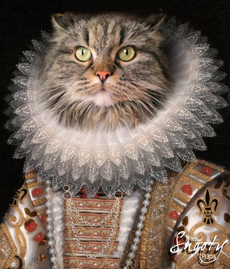 Custom Cat Portrait - Queen Nola