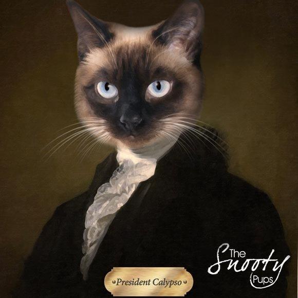 Custom Cat Portrait - President