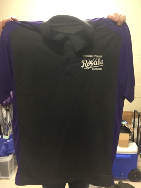 Men's Grey & Purple Collared Polo