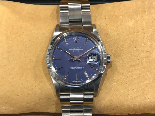 Rolex Vintage Datejust Blue dial 26372