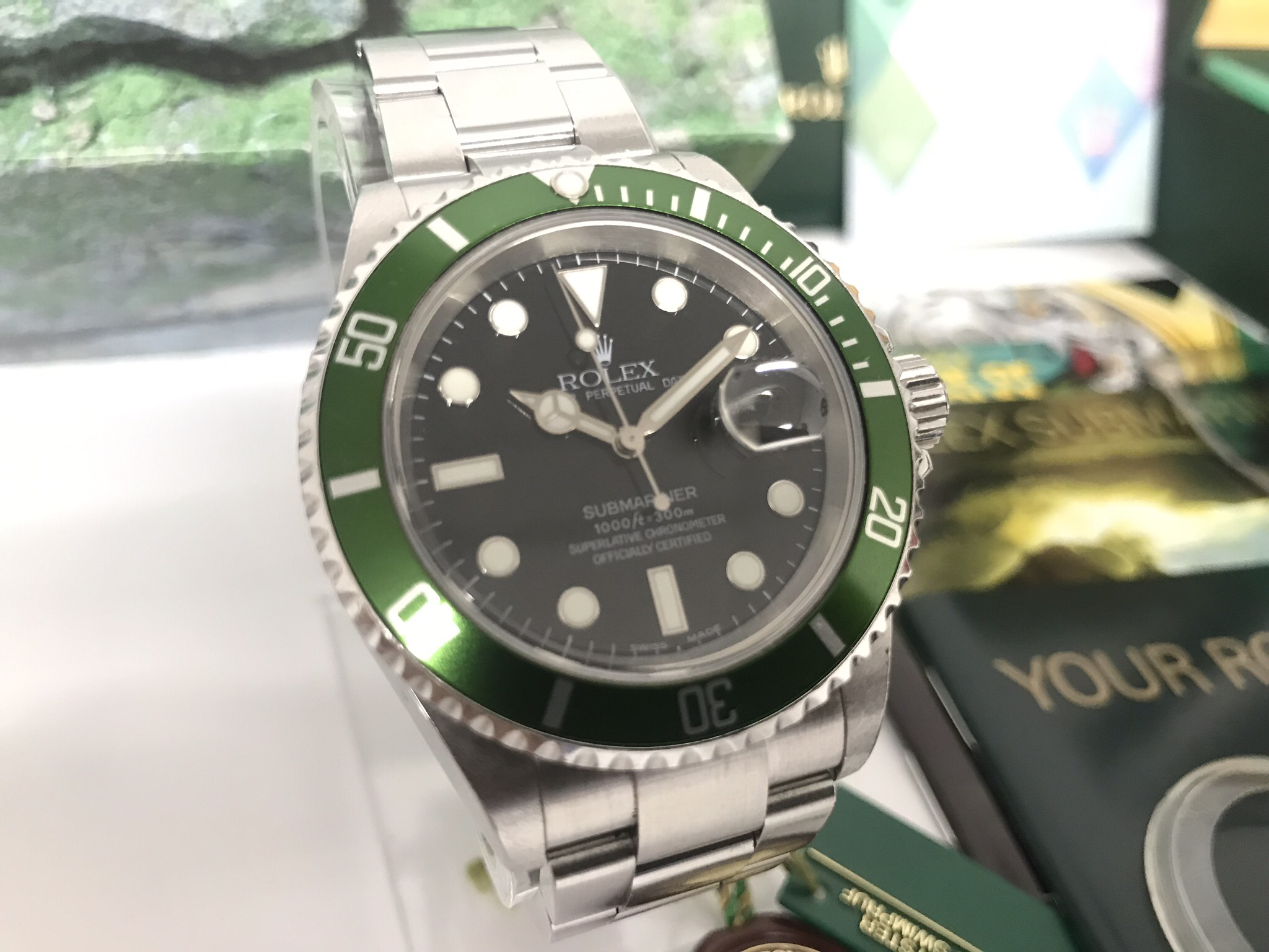 -Sold- 8/5/19 Rolex Submariner 16610LV Flat 4 Anniversary F Serial Number 26375