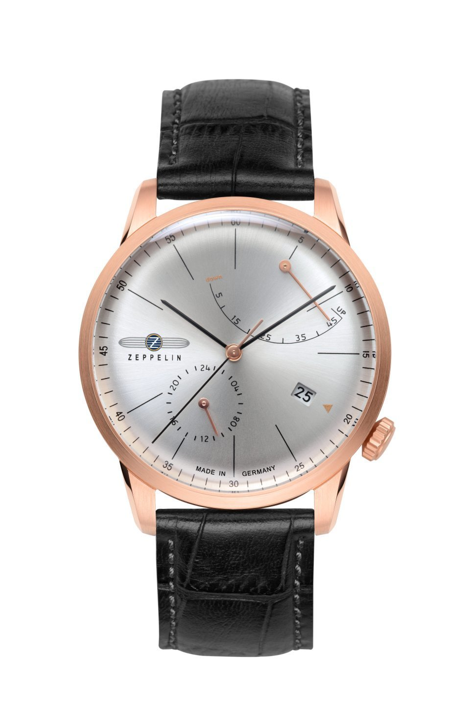 Zeppelin Flatline rose gold power reserve automatic 26352