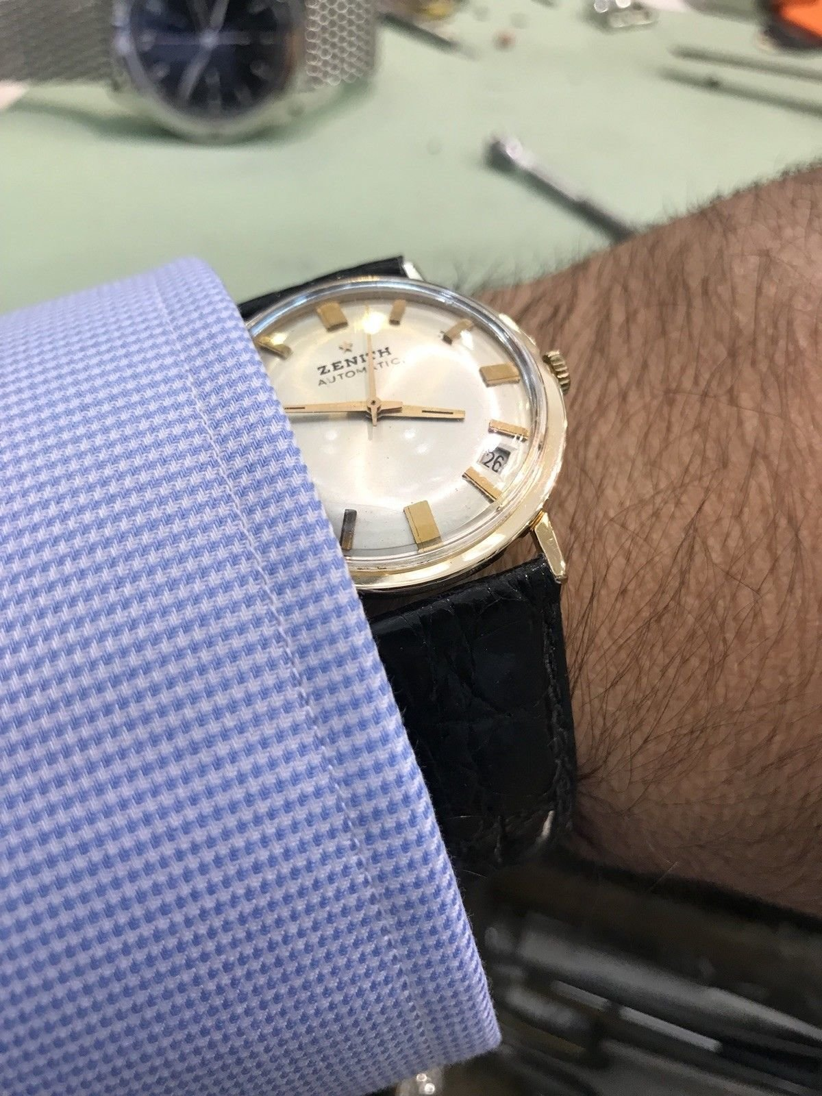 Zenith Vintage 18kt Rose Gold Automatic Circa 1960