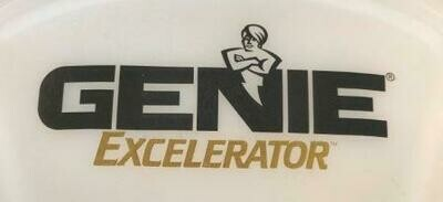 Genie Excelerator Black Gold Labeled Light Lens Cover