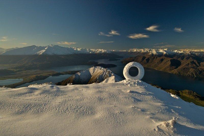 Roys Peak Winter Snow Circle