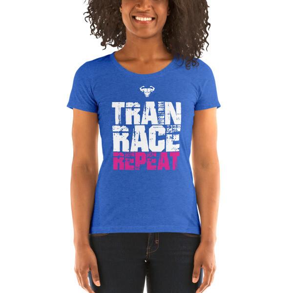 Women's Train. Race. Repeat. Tri-Blend Shirt