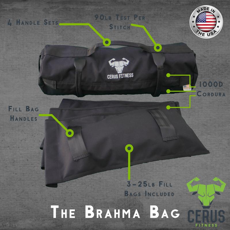 Cerus Fitness Sandbag Kit- Black