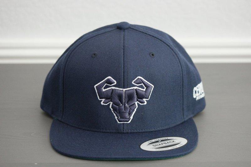 Cerus Navy Halo Snapback Hat