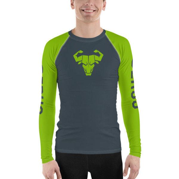 Men's Green Long-Sleeve Tech Shirt