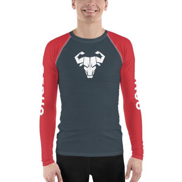 Men's Red Long-Sleeve Tech Shirt