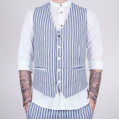 Men's striped vest