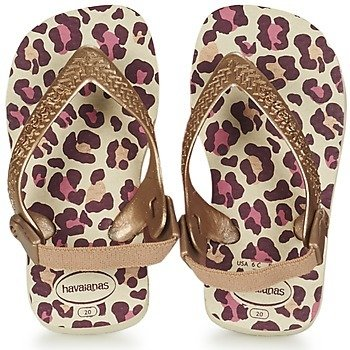Tongs baby HAVAIANAS chic léopard havaianas-baby chic beige