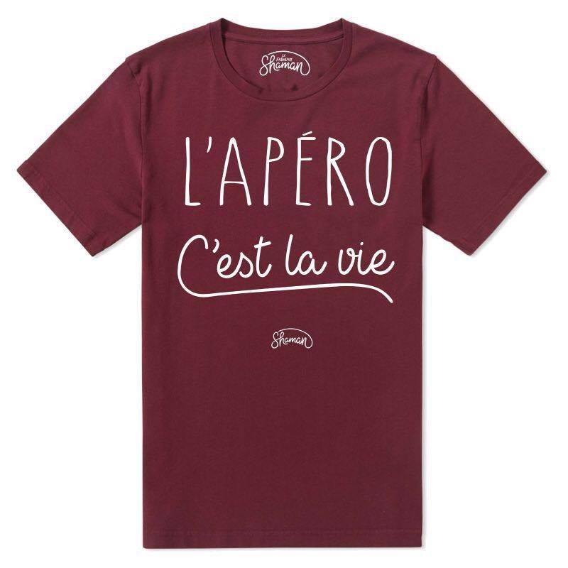 """T-shirt homme SHAMAN """"L'apéro c'est la vie"""""""" shaman-ts homme apero c est la vie bordeaux"""