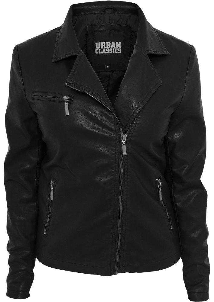 Perfecto femme URBAN CLASSICS noir urban classics-biker jacket noir