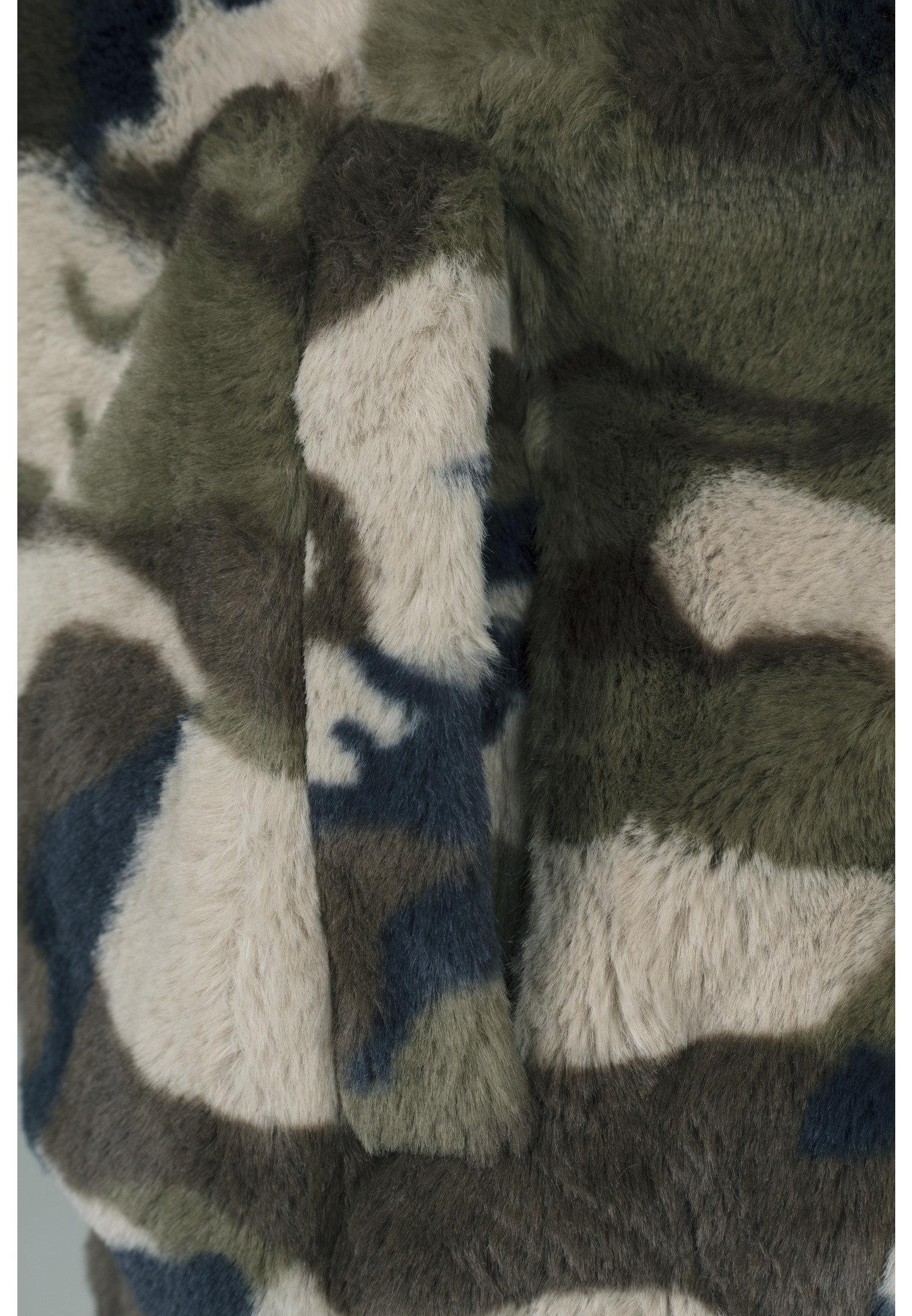 Blouson femme camouflage  URBAN CLASSICS en fourrure synthétique