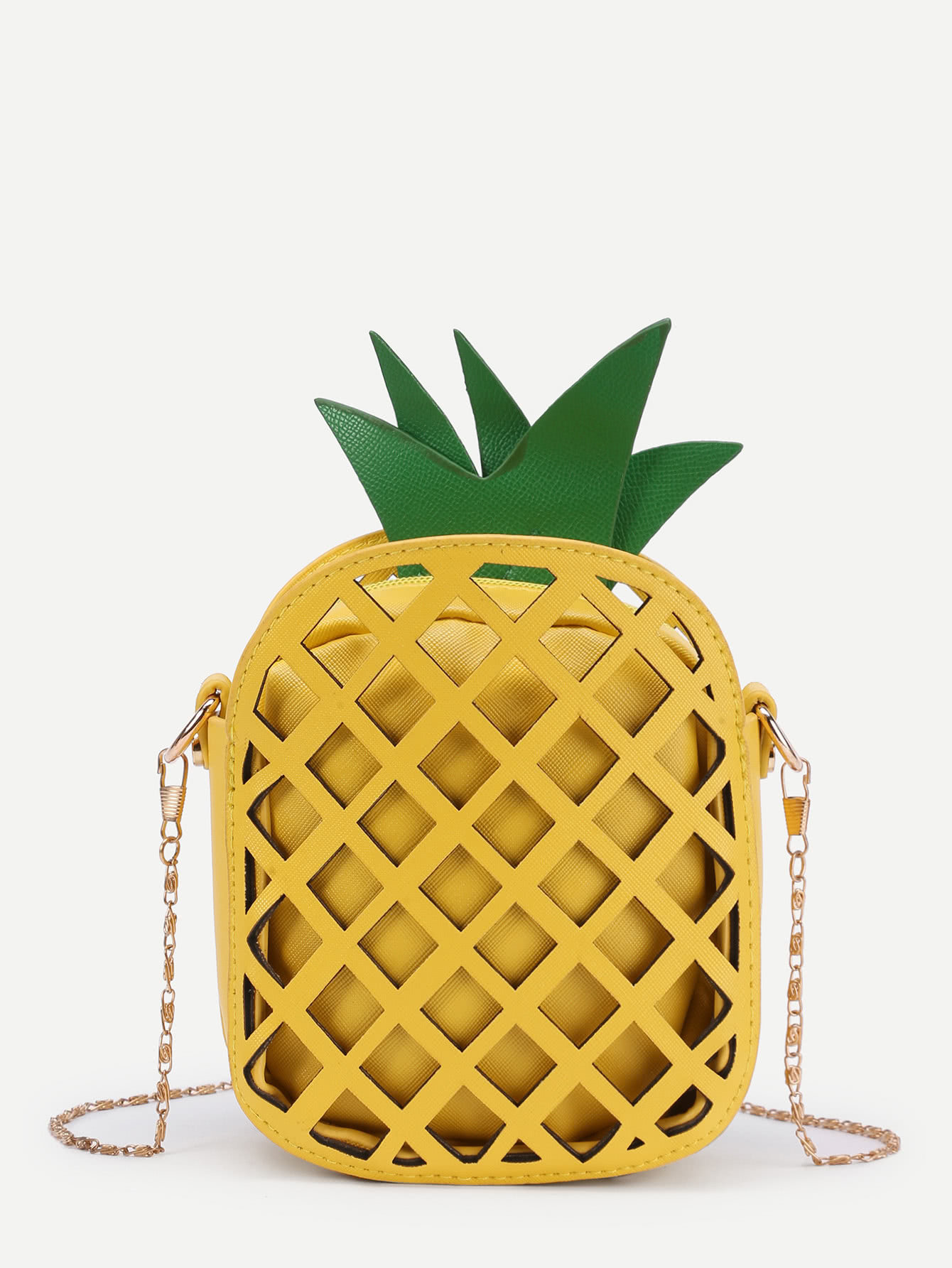 Sac à main Ananas jaune coeur-sac ananas jaune
