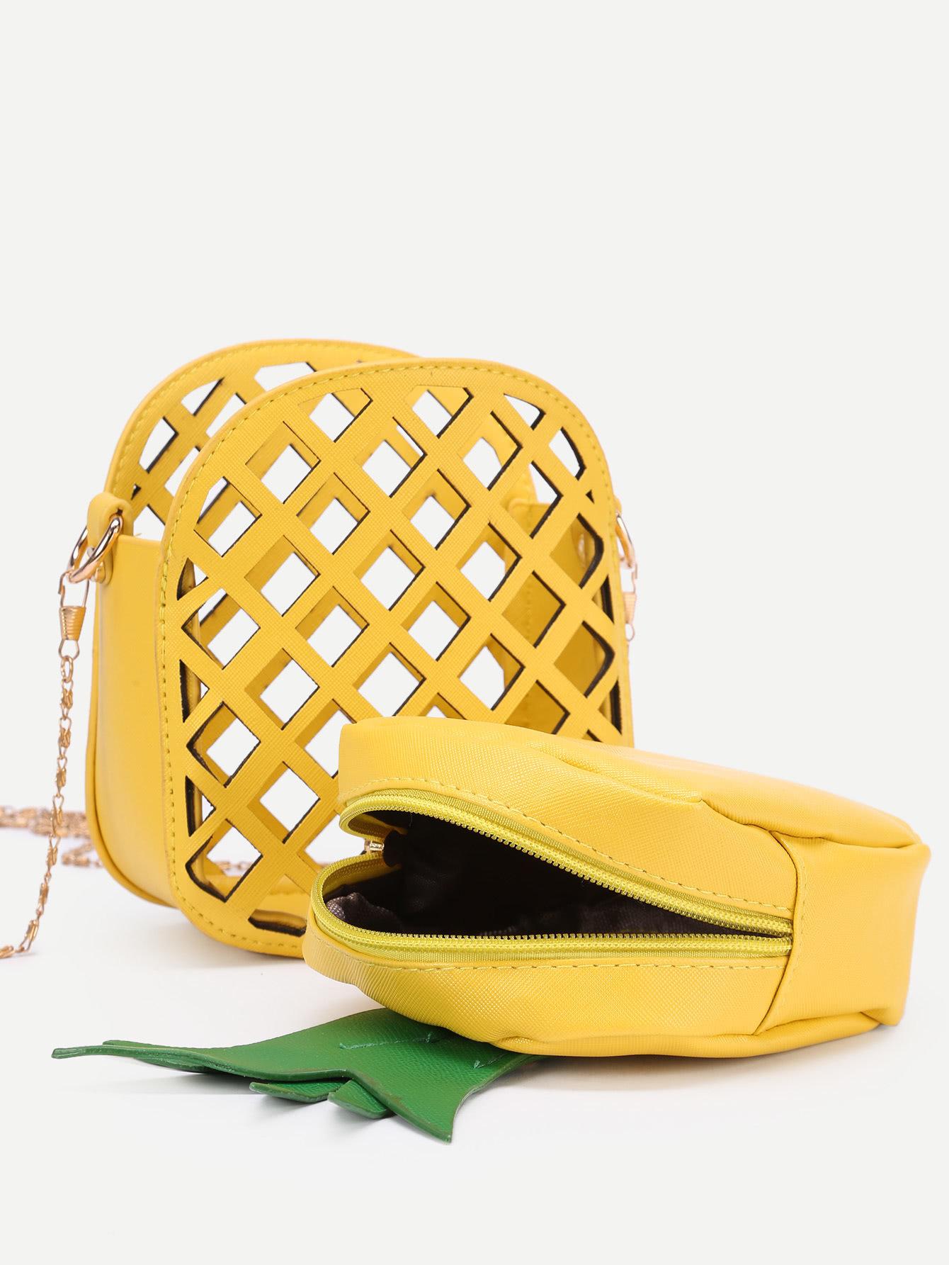 Sac à main Ananas jaune