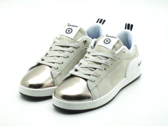 Sneakers VESPA modèle Freccia suède blanc vespa-freccia S18 off white